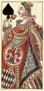 Queen of Spades (Bauern Hochzeit Deck) by Andreas Benedictus Gobl