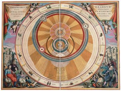 Depiction of the Geo-Heliocentric Universe of Tycho Brahe, 17th century
