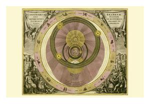 Planisphaerium Braheum by Andreas Cellarius
