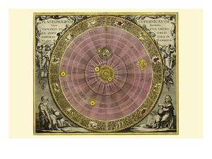 Planisphaerium Copernicanum by Andreas Cellarius