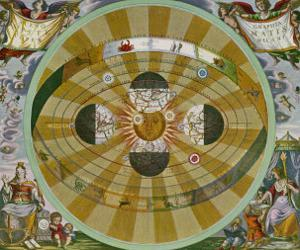 Representation of His System Showing Earth Circling the Sun by Andreas Cellarius