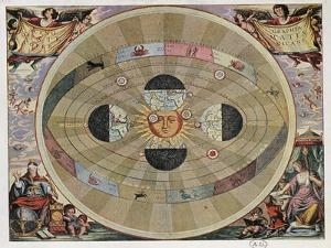 Representation of the Copernican System of the Universe with the Movements of the Earth in Relation by Andreas Cellarius