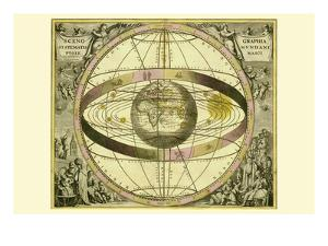 Sceno Systematis Ptolemaici by Andreas Cellarius