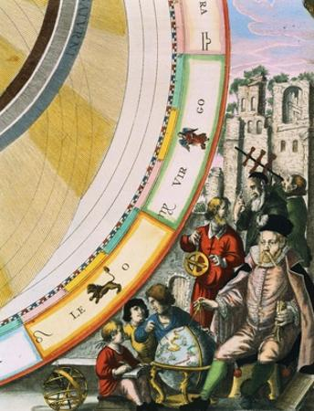 Tycho Brahe, Detail from a Map of his System of Planetary Orbits from The Celestial Atlas
