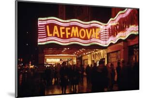 1945: Laff Movie Theater at 236 West 42nd Street Manhattan, New York, NY by Andreas Feininger