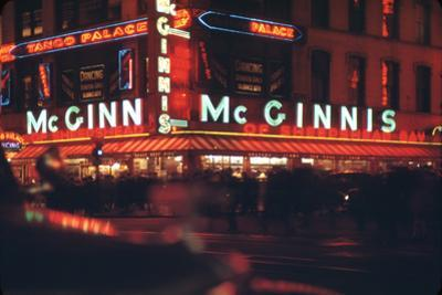 1945: Mcginnis Tango Palace Above the Roast Beef King Deli, 48th and Broadway, New York, NY by Andreas Feininger