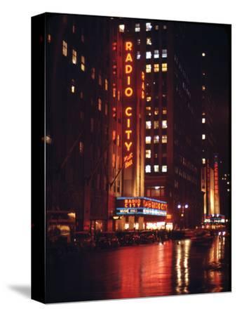 1945: Radio City Music Hall Lit Up at Night, New York, Ny