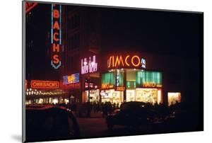 1945: Signs for the Orbach Department Store and Simko Shoe Store in the Union Square, New York, Ny by Andreas Feininger