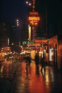 1945: Street Scene Outside of Hotels on East 43rd Street by Times Square, New York, Ny by Andreas Feininger