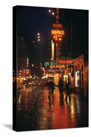 1945: Street Scene Outside of Hotels on East 43rd Street by Times Square, New York, Ny
