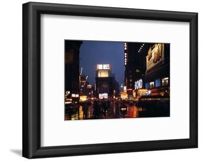 1945: Times Square at Night after Rain, New York, NY