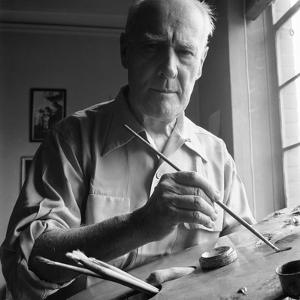Artist Lyonel Charles Feininger (July 17, 1871- January 13, 1956), New York, NY, June 1951 by Andreas Feininger