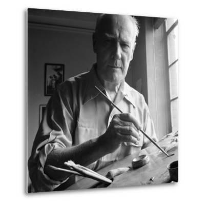 Artist Lyonel Charles Feininger (July 17, 1871- January 13, 1956), New York, NY, June 1951
