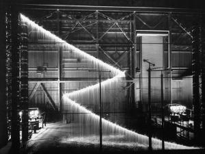 General Electric Lab, Creating Artificial Lightning to Study Its Behavior by Andreas Feininger