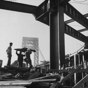 George Washington Bridge Being Constructed by Andreas Feininger