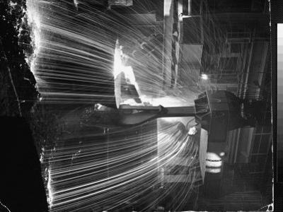 Molten Steel Being Poured from an Open Hearth Furnace at Carnegie Illinois Steel Mill by Andreas Feininger