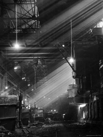 Pouring Ingots at Carnegie Illinois Steel Plant by Andreas Feininger