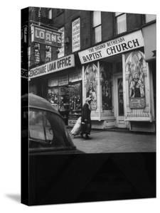 Storefront Church in Harlem by Andreas Feininger