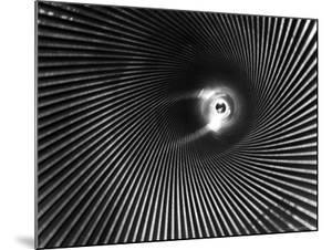 Wide Angle of the Barrel of a 16 Inch Gun by Andreas Feininger
