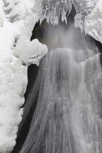 Germany, Baden-Wurttemberg, Black Forest, Triberg Waterfall in Winter by Andreas Keil