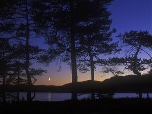 Norway, Telemark, Nisser Lake, Moonrise by Andreas Keil