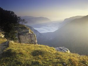 Switzerland, Swiss Jura, Creux Du Van, View from the Edge of the Creux Du Vans by Andreas Keil