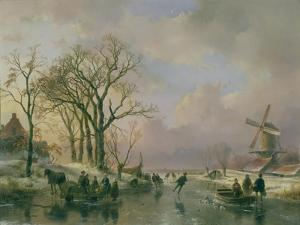 Skating in Holland by Andreas Schelfhout