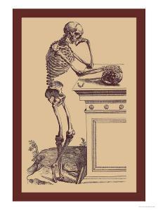 Leaning Skeleton by Andreas Vesalius