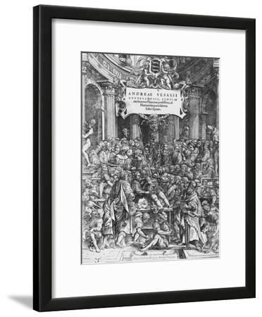 Title Page of De Humani Corporis Fabrica (Latin for on Fabric of Human Body)