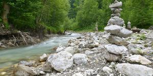 Germany, Bavaria, Garmisch-Partenkirchen, Crains on the Partnach (River by Andreas Vitting