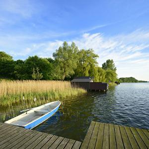 Germany, Mecklenburg-Western Pomerania, Mecklenburg-Vorpommern, Zarrentin, Footbridge by Andreas Vitting