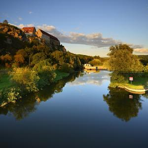 Germany, Saxony-Anhalt, Burgenlandkreis, Castle and Sluice Wendelstein in the Evening Light by Andreas Vitting