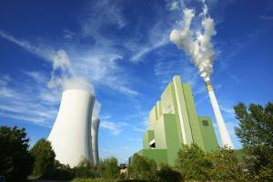 Germany, Saxony-Anhalt, Schkopau, brown coal power station by Andreas Vitting