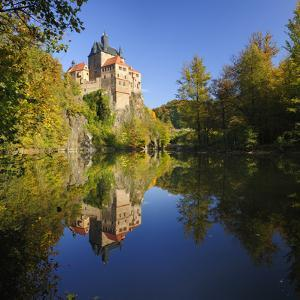 Germany, Saxony, Castle Kriebstein Above the Zschopau by Andreas Vitting
