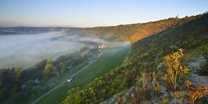 Morning Fog in the Saale Valley, Near Naumburg, Burgenlandkreis, Saxony-Anhalt, Germany by Andreas Vitting