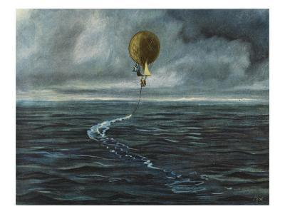 Andree's Balloon 'L'Aigle' over the Arctic Sea--Giclee Print