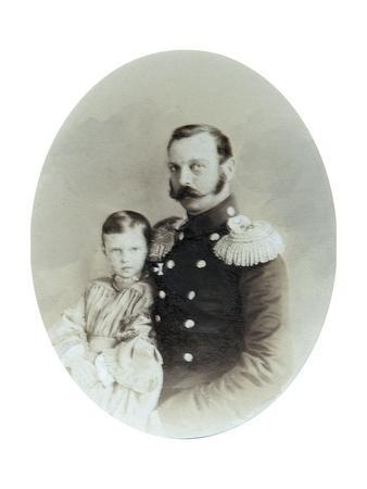 Tsar Alexander II and His Daughter Grand Duchess Maria Alexandrovna, Late 1850S