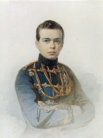 Portrait of Grand Duke Alexander Alexandrovich, Later Tsar Alexander III, 1861