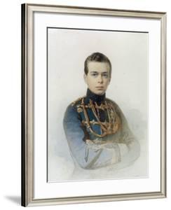 Portrait of Grand Duke Alexander Alexandrovich, Later Tsar Alexander III, 1861 by Andrei Franzovich Belloli