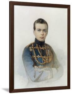 Portrait of Grand Duke Alexander Alexandrovich, Later Tsar Alexander III, 1861 by Andrei Franzovich Belloli