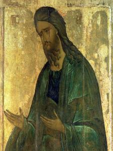 Icon of St. John the Baptist by Andrei Rublev