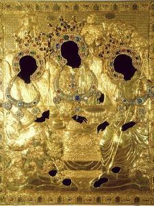 Oklad, or Cover of the Trinity Icon (Detail) by Andrei Rublev