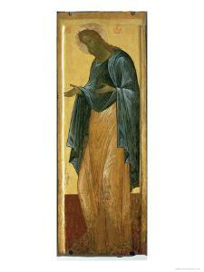 St. John the Forerunner, from the Deisis Tier of the Dormition Cathedral in Vladimir by Andrei Rublev