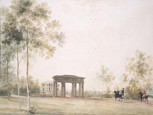 Gateway to the Park in Tsarskoye Selo, after 1821 by Andrei Yefimovich Martynov