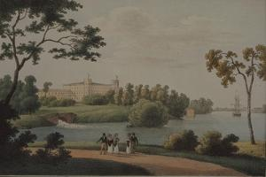 View of the Main Gatchina Palace, 1821 by Andrei Yefimovich Martynov