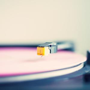 Retro Turntable with Pink Vinyl by Andrekart Photography