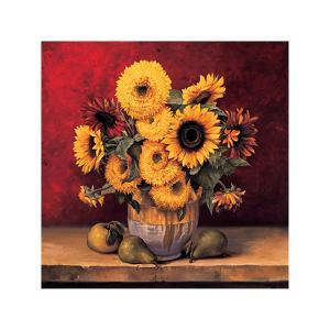Sunflowers with Pears by Andres Gonzales