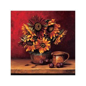 Sunflowers with Plums by Andres Gonzales