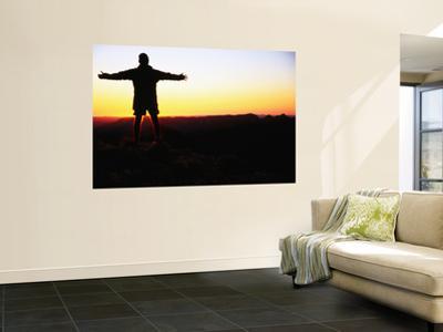 Man Silhouetted at Dawn, Brinkley Bluff