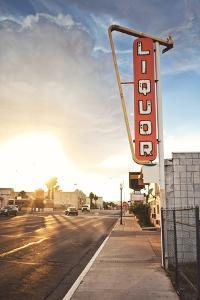 Old Liquor Store Sign by Andrew Bayda